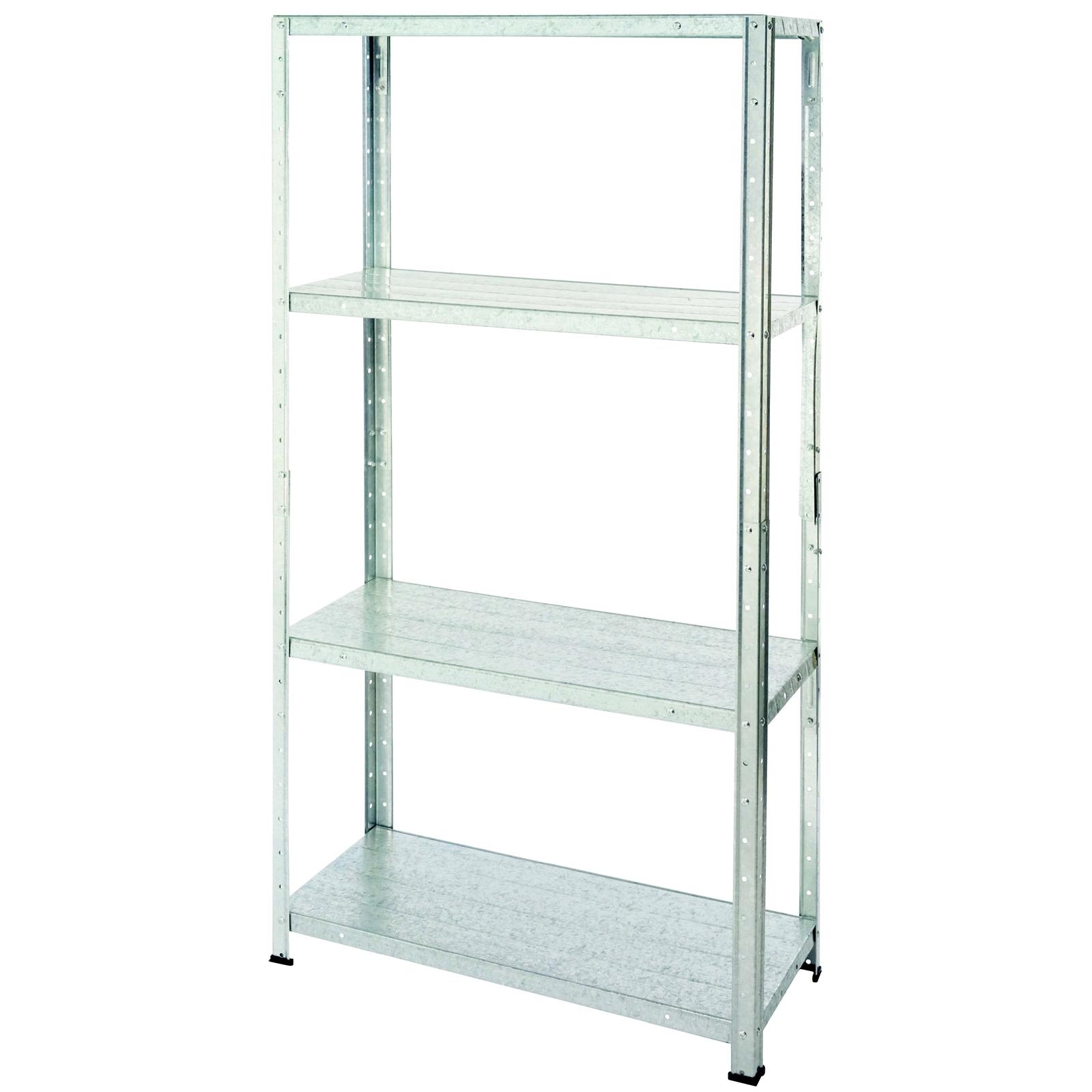 Galvanised Steel 4 Shelf Storage Unit (Max Weight capacity 200kg) - £10 @ Homebase