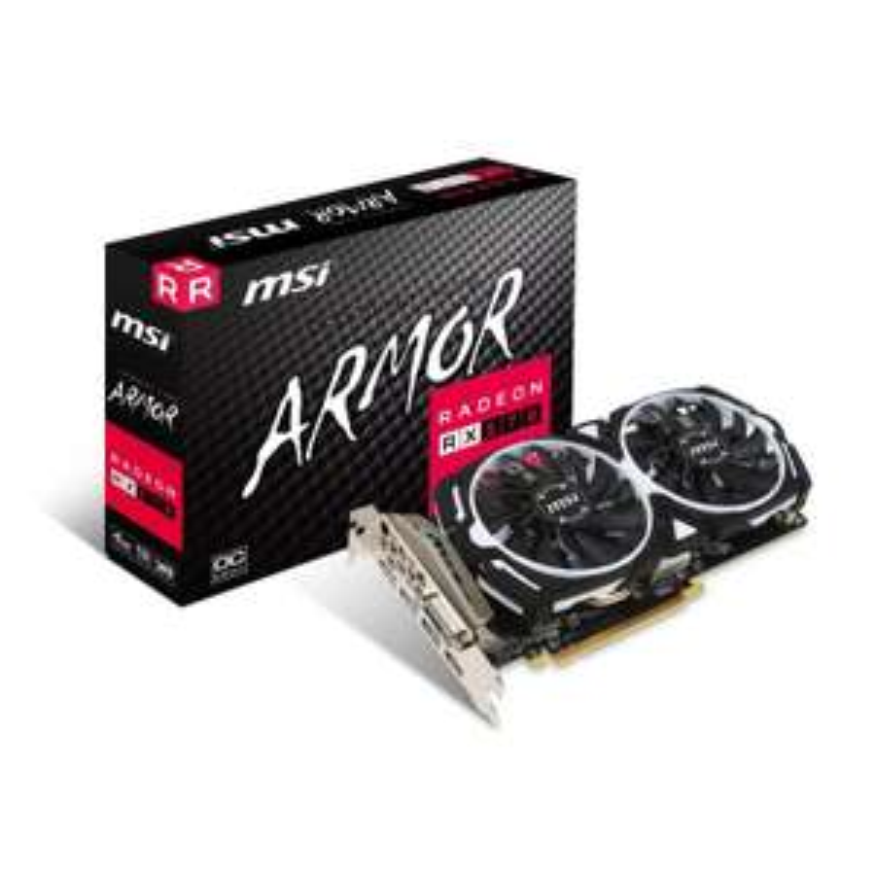 MSI AMD Radeon RX 570 4GB ARMOR OC Graphics Card £118.48 at Ebuyer (Free Game Pass)