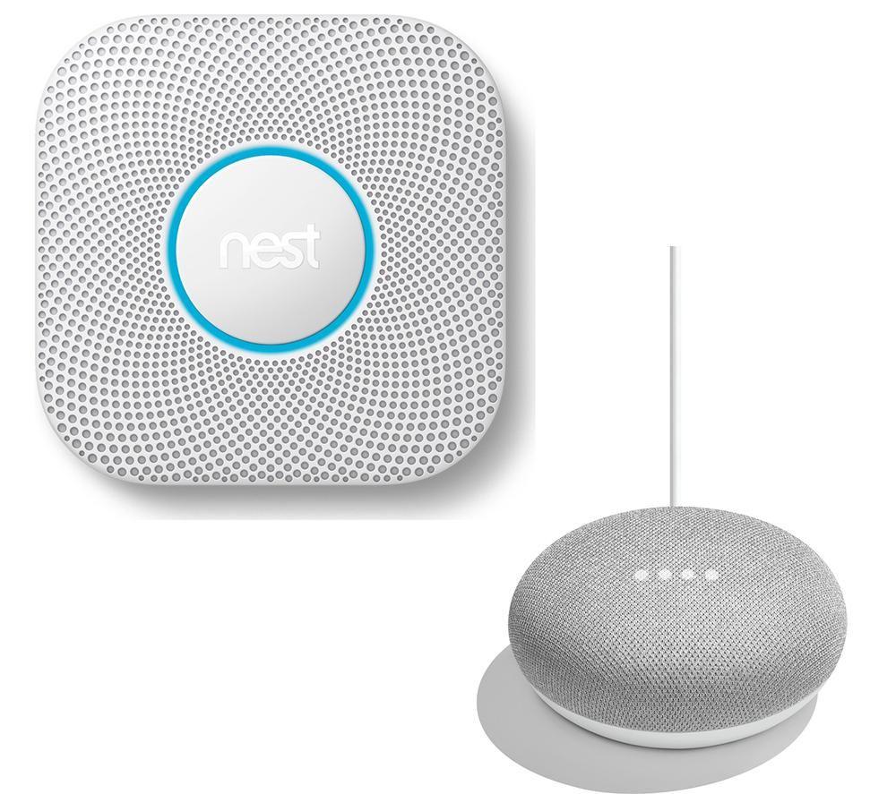 NestProtect - 2nd Gen Smoke & Carbon Monoxide Hard Wired Alarm & Home Mini Bundle - £89 @ Currys PC World (Free C&C)