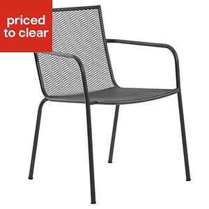 Adelaide Black Metal Armchair £13.60 at B&Q- 20% off at checkout - £13.60 (Free C&C)