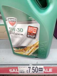 Auto Drive 5W-30 Fully Synthetic Oil £7.50 instore @ Asda (Shaw)