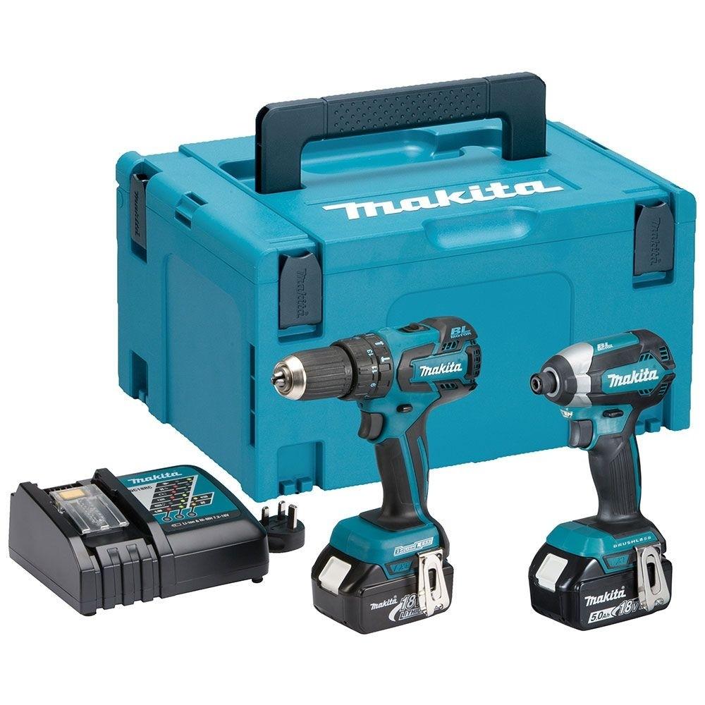 Makita DLX2173TJ 18V Li-Ion LXT Brushless Cordless Combi Drill & Impact Driver - Twin Pack. 2x5ah batteries. Brushless £244.30 @ Homebase