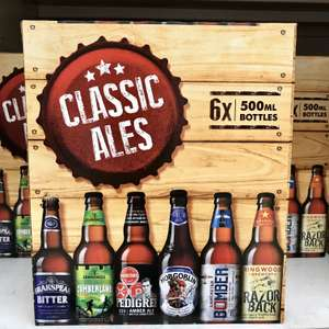 Classic Ales Mixed Pack x6 500ml only £8 @ Sainsbury's