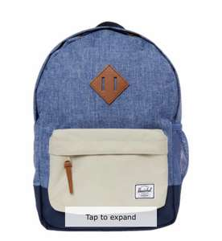 Herschel blue and cream heritage backpack £16.99 TKMAXX