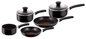 Tefal Delight Cookware Set - Black, 5 Pieces now £23.99 delivered at Amazon