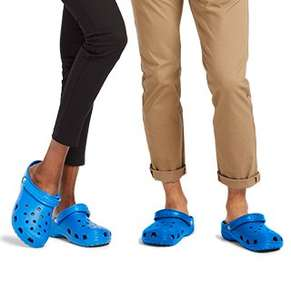 Crocs 50% off sale prices and free delivery on all orders
