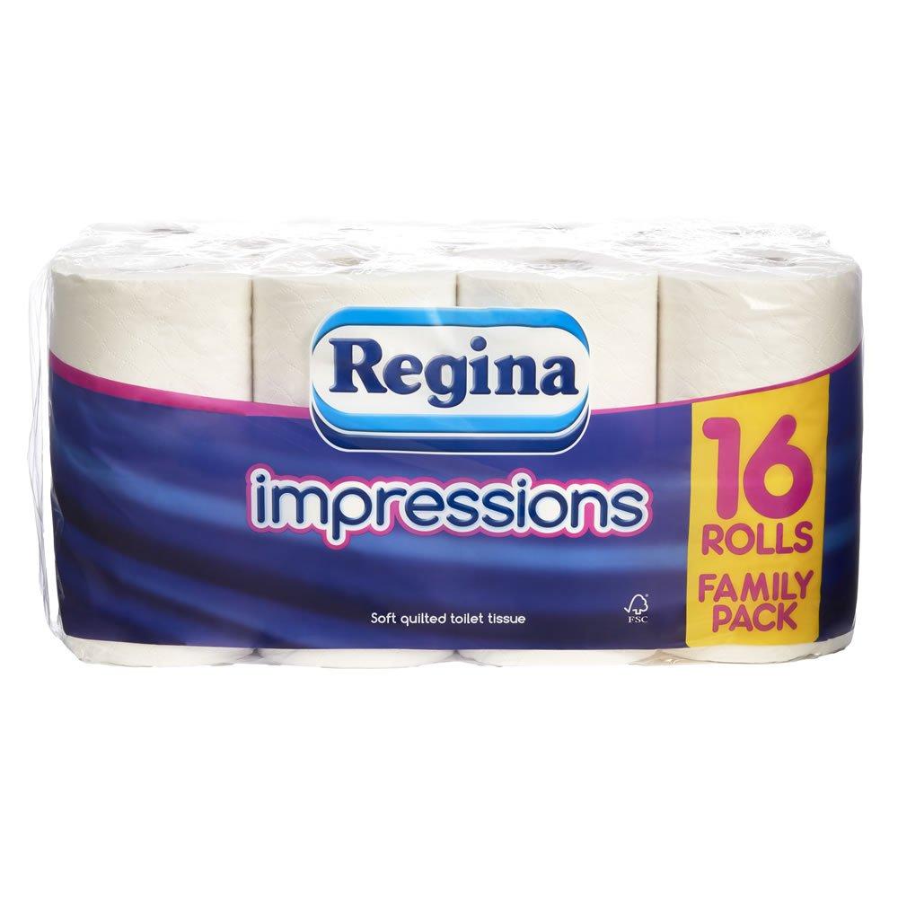 Regina Impressions Toilet Tissue 16 Rolls 3 Ply - £5 at Wilko (Free C&C)