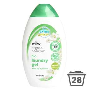 3 x 28 i.e 84 Washes of Wilko Laundry Gel for £5 @ Wilko (Free C&C)