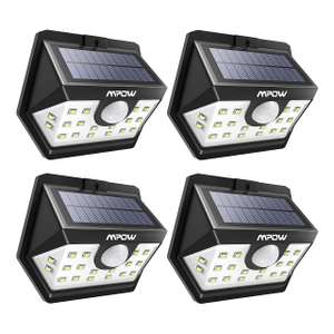Mpow Solar Lights, 20 LED Solar Powered, Solar Lights Outdoor, Pack of 4 - Sold by MPOW / Fulfilled by Amazon - £19.12 Prime / £23.61 non-P