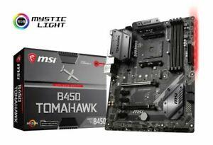 MSI B450 TOMAHAWK AM4 DDR4 ATX Motherboard - £77.05 at ebuyer_uk_ltd eBay
