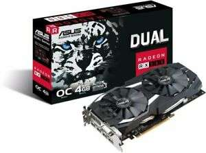 Asus AMD Radeon RX 580 Dual 4GB Graphics Card - £140.51 at ebuyer_uk_ltd eBay