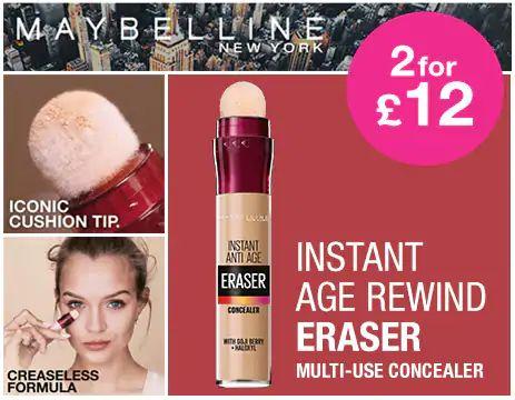 2 For £12 on Selected Maybelline at Superdrug