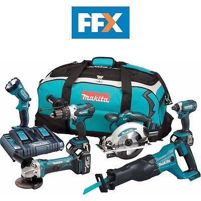 MAKITA FFX6072PT 18V 3X4.0AH LXT LI-ION 6PC Power Tool Kit - £512 atfolkestonefixings eBay