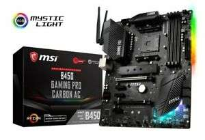 MSI B450 GAMING PRO CARBON AC AM4 DDR4 ATX Motherboard £98.33 @ ebuyer_uk_ltd