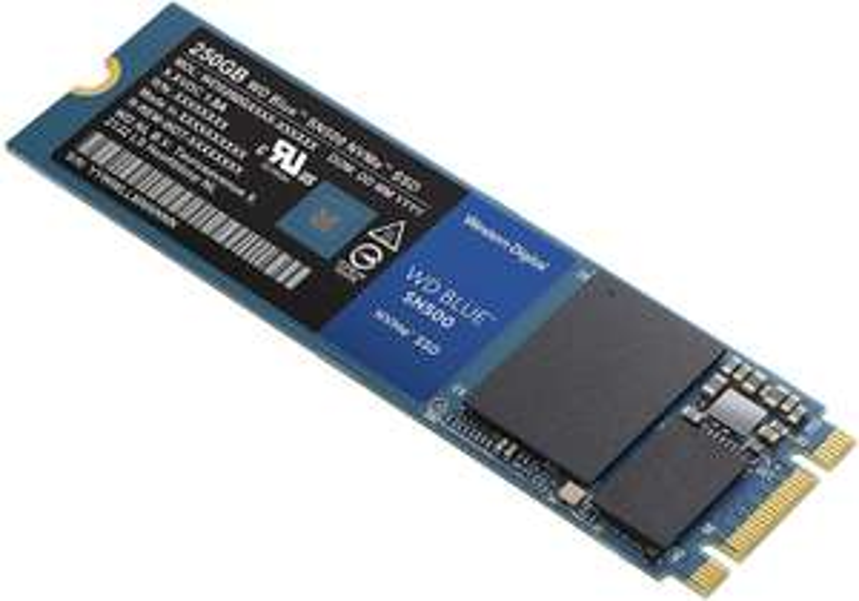 WD Blue 250GB M.2 NVMe SSD (Via:PCIE Gen3 x2   Speeds: Read=1700MB/s & Write=1450MB/s   Endurance: 300TBW   5-year Warranty) £34.10 @ Amazon