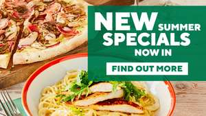 40% Off meals at Frankie & Benny's (by pre-ordering/booking)