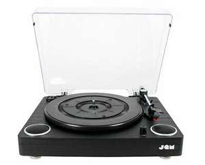 Jam Play Record Player Turntable Vinyl Deck + Built In Speakers 3 Speed BLACK £47.99 with code @ ebay / fka-brands