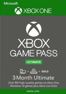 3 Month Xbox Game Pass Ultimate Xbox One / PC £11.49 @ CDKeys