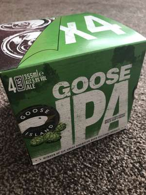 Goose Island IPA 4 can pack - £3.99 at B&M instore