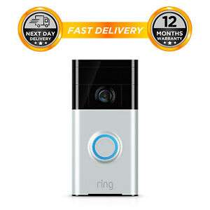 RING Video Doorbell Satin Nickel £71.99 Brand New @ hitechelectronicsuk Ebay