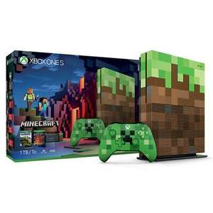 Xbox One S 1TB Minecraft Edition Console(Refurbished) £119.99 with code delivered @ Stockmustgo/ebay