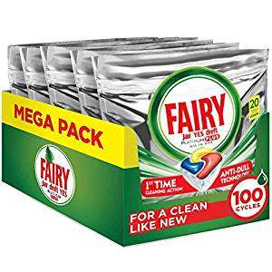 £13 with code Fairy Platinum Plus - 100pk - Limited Time Offer @ Amazon - £15 Prime / £19.49 non-Prime