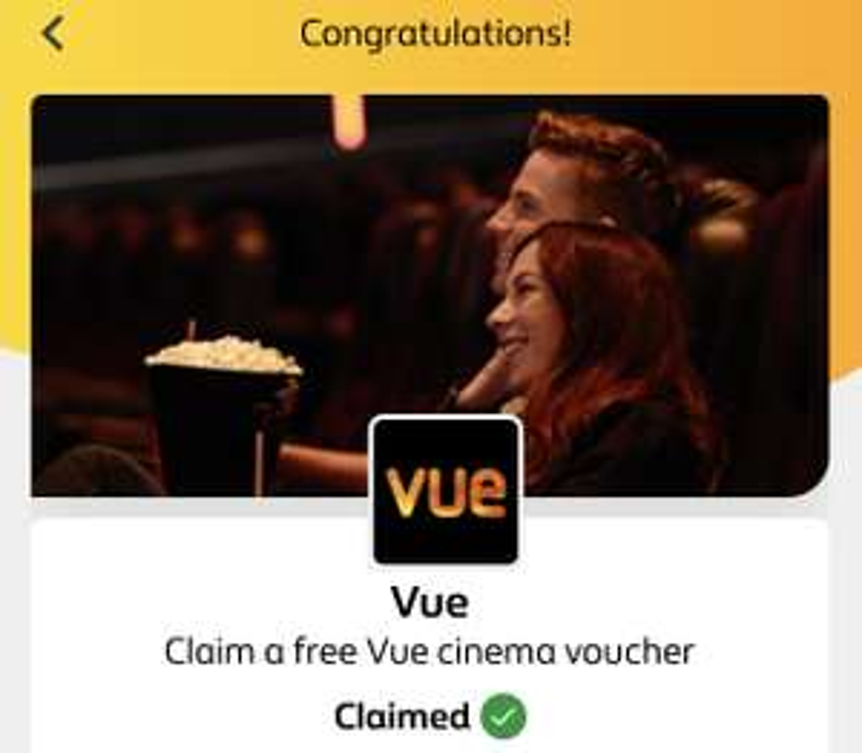 British Gas App Rewards - Free Vue cinema ticket