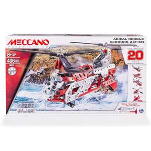 MECCANO 20 Model Set - Helicopter (Styles Vary) now £10 (Prime) + £4.49 (non Prime) at Amazon