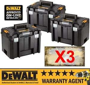 3X DeWALT DWST1-71195 TSTAK VI Deep Tool Box Storage Case 23L NO Tote Tray at Fixit Power Tools/Ebay £64.95