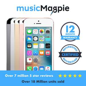 Apple iPhone SE 16GB 64GB Various Colours Smartphone Unlocked / Network Locked Good Condition £59.99 @ Music Magpie Ebay
