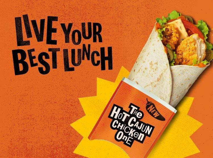 Hot Cajun Chicken Wrap £1.49 via McDonald's App