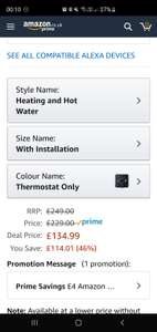 Hive hot water and heating WITH installation, £134.99 @Amazon