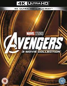 Avengers collection 4k UHD bluray disc Trilogy/triple pack £27.01 @ Amazon Prime Day