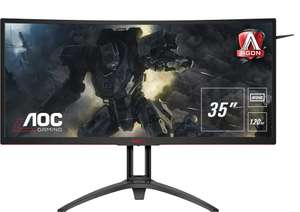 "AOC AGON AG352UCG6 35"" Widescreen MVA LED Black Multimedia Curved Monitor (3440x1440/4ms/HDMI/DP) £559.99 Amazon Prime Deal"