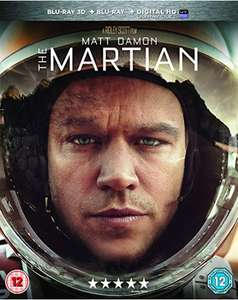 The Martian Blu Ray + 3D Blu Ray £4.31 @ Amazon (Prime Members Only)