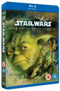 Star Wars Trilogy Episodes I, II and III Blu-ray Used £9.89 delivered w/code @ Music Magpie