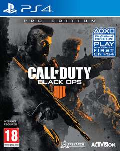 Call Of Duty: Black Ops 4 Pro Edition (PS4) £29.99 Amazon Prime Excl