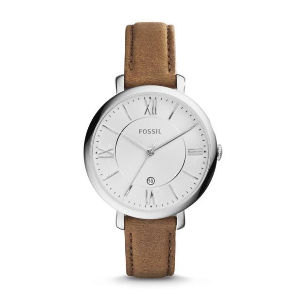 FOSSIL Jacqueline Brown Leather Watch  Analogue Women's Quartz Wrist Watch @ Amazon Prime Day Deals £37