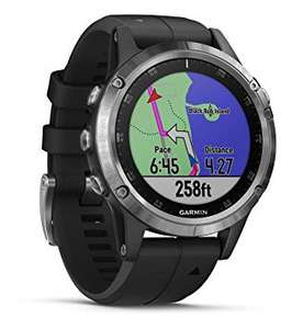 Garmin Fenix 5 Plus Multisport Watch with Music, Maps and Garmin Pay, Silver with Black Band £379.99 Amazon Prime Excl