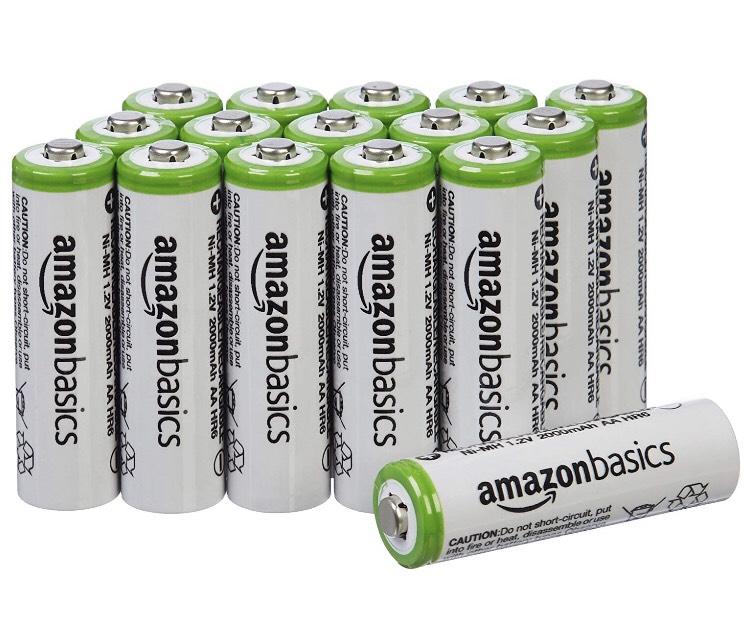 Amazon Basics 16 RECHARGEABLE AA batteries (2,000 mAh) £13.99 @ Amazon for PRIME DAY! + £4 Amazon Pantry Reward
