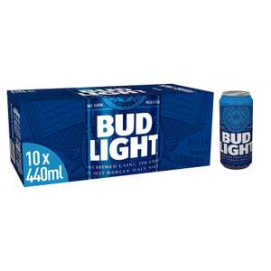 Bud Light Lager Can, 10 x 440 ml - £4 Amazon Pantry + £3.99 delivery