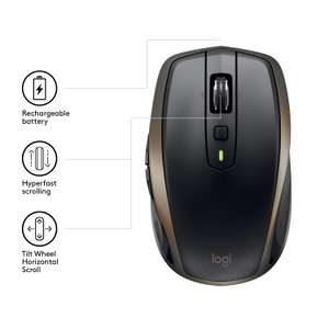 Logitech MX Anywhere 2 AMZ Wireless Bluetooth Mouse for Windows and Mac, Black £26.99 Amazon Prime Excl