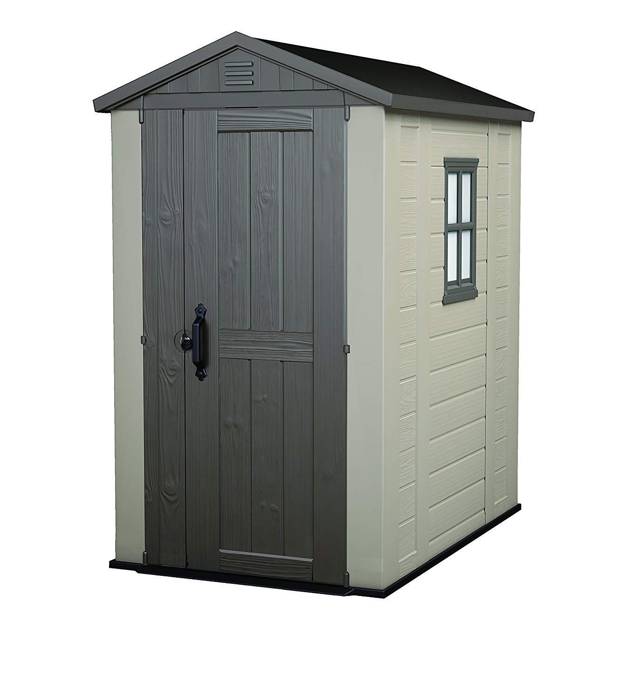 Keter Factor Outdoor Plastic Garden Storage Shed, Beige, 4 x 6 ft - £209.99 Amazon Prime Excl