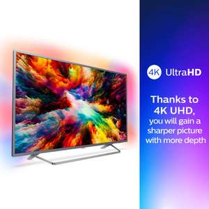 Philips 65 inch 4k ultra HD HDR 7000 series Ambilight TV. 2018/19 model. 65PUS7303 £784.99 Amazon Prime Excl