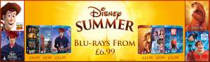 Disney Blu-rays From £6.99 or £6.21 with code @ zoom