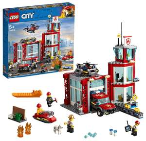 LEGO 60215 City Fire Station Building Set with Fire Toy Truck Water Scooter and Drone Firefighter £35.99 Amazon Prime Excl