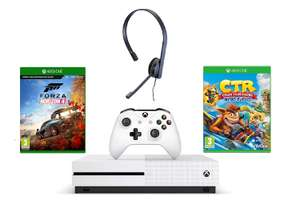 Xbox One S 1TB Forza Horizon 4 Bundle + Crash Team Racing + Chat Headset £199.99 from Amazon for Prime members