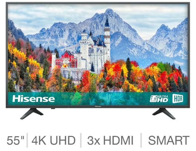 Hisense H55A6250UK 55 inch 4K Ultra HD Smart TV £299.89 delivered @ Costco