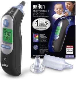 Braun ThermoScan 7 Ear Thermometer with Age Precision - Black Edition £34.99 Amazon Prime Excl