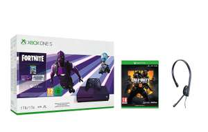 Xbox One S 1TB Fortnite Battle Royale Special Edition Bundle + Call of Duty Black Ops 4 + Chat Headset £199.99 from Amazon for Prime members